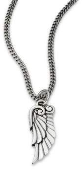King Baby Studio Sterling Silver Bird-Wing Pendant Necklace