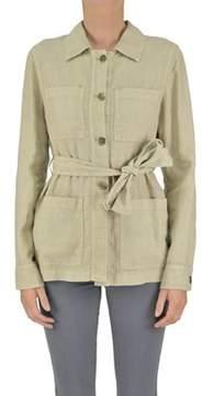 Seventy Women's Beige Linen Outerwear Jacket.
