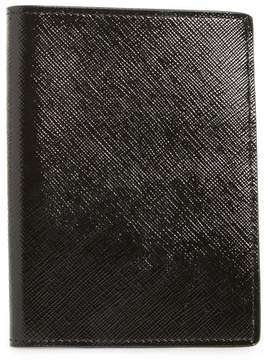 Nordstrom Leather Passport Case - Black