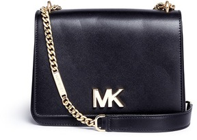 Michael Kors 'Mott' large curb chain leather shoulder bag - ONE COLOR - STYLE
