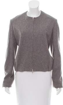 Edun Collarless Zip-Up Jacket