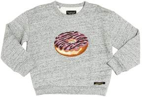 Finger In The Nose Donut Patch Cotton Sweatshirt