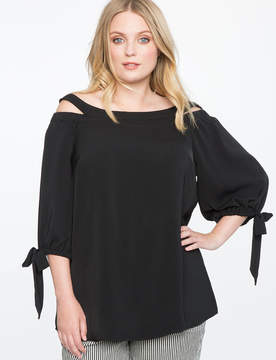 ELOQUII Off the Shoulder Tunic with Slit