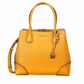 Michael Kors Mercer Medium Leather Satchel- Marigold