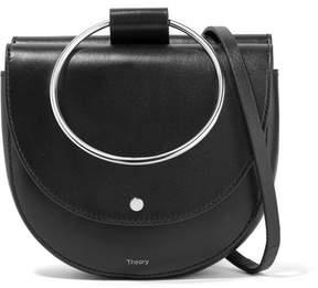 Theory Whitney Leather Shoulder Bag - Black