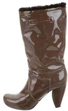 Marc Jacobs Patent Leather Mid-Calf Boots