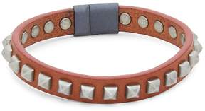 Tateossian Men's Pyramid Studded Leather Bracelet
