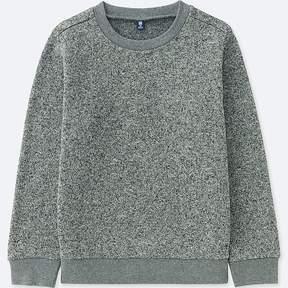 Uniqlo Kid's Knitted Fleece Crewneck Long-sleeve T-Shirt