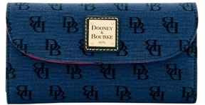 Dooney & Bourke Madison Signature Continental Clutch Wallet - NAVY - STYLE