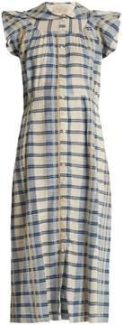 Ace&Jig Ophelia ruffle-sleeved checked cotton dress