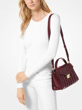 MICHAEL Michael Kors Whitney Medium Quilted Leather Satchel