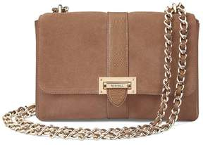 Aspinal of London | Large Lottie Bag In Camel Suede Camel Lizard | Camel suede camel lizard