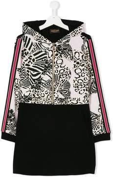 Roberto Cavalli TEEN leopard tracksuit dress