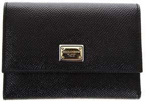 Dolce & Gabbana Dauphine Black Leather Wallet - BLACK - STYLE