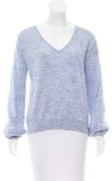 White + Warren V-Neck Long Sleeve Sweater