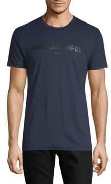 Karl Lagerfeld Crewneck Short Sleeve Logo T-Shirt