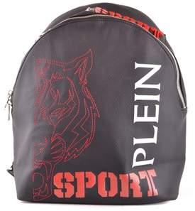 Philipp Plein Men's Black Polyurethane Backpack.