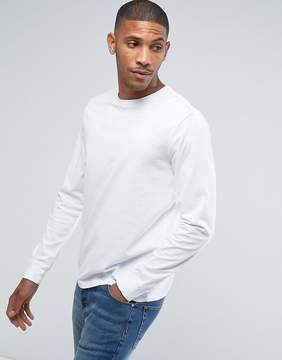 Converse Essentials Long Sleeve T-Shirt In White 10004622-A04