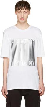 Helmut Lang White Box Fit Print T-Shirt