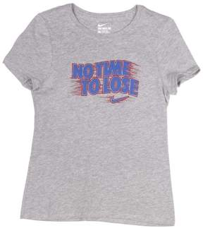 Nike Big Girls' (7-16) No Time To Lose Graphic T-Shirt-Gray/Blue/Red-Small