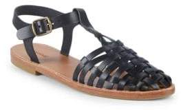 Soludos Round-Toe Leather Fisherman Sandals