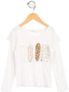 Billieblush Girls' Long Sleeve Top
