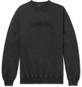 Balenciaga Oversized Embroidered Cotton-Jersey Sweatshirt