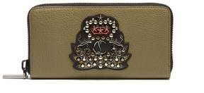 Christian Louboutin Panettone crest-embellished leather wallet