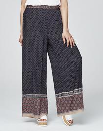 Alice & You Border Print Wide Leg Pants