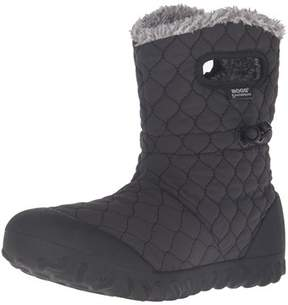 Bogs Womens Bmoc Quilt Puff Fabric Closed Toe Mid-calf Cold Weather Boots.