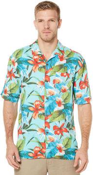 Cubavera Short Sleeve Retro Tropical Print Shirt
