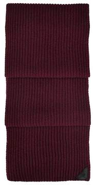 Aspinal of London | Rib Knit Cashmere Blend Scarf In Burgundy | Burgundy cashmere blend