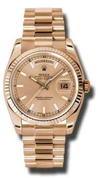 Rolex Day-Date Champagne Dial 18K Everose Gold President Automatic Men's Watch