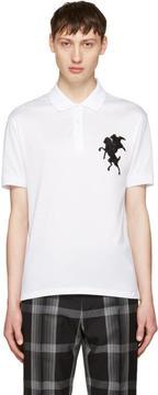 Alexander McQueen White Classic Piqué Polo