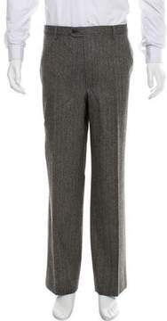 Luciano Barbera Herringbone Wool Pants