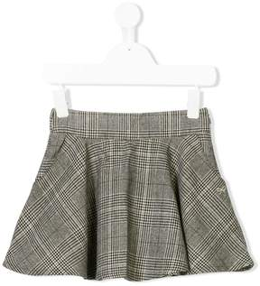 Lili Gaufrette check and houndstooth skirt