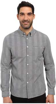 Kenneth Cole Sportswear Long Sleeve Slim Button Down Collar Besom Men's Long Sleeve Button Up