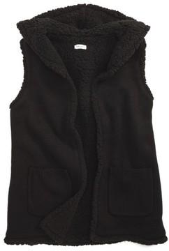 Splendid Girl's Hooded Faux Fur Vest