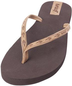 Reef Women's Slim Ginger Leather Flip Flop 8138441