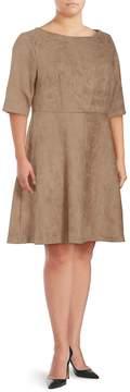 Alexia Admor Women's Scoopneck A-Line Dress - Camel, Size 1x (14-16)