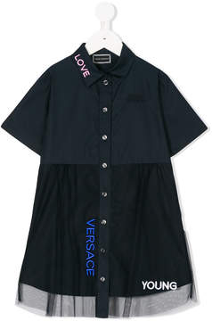 Versace embroidered shirt dress