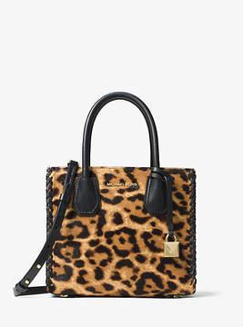 Michael Kors Mercer Leopard Calf Hair Crossbody