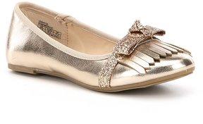 Kenneth Cole New York Girls Viva Kiltie Slip On Ballerina Flats