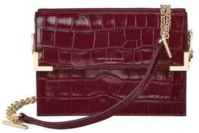 Aspinal of London | Chelsea Bag In Deep Shine Bordeaux Croc | Deep shine bordeaux croc