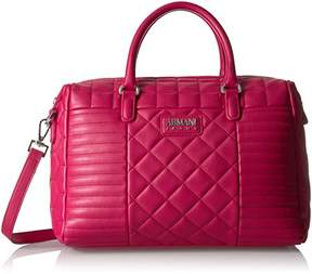 Armani Jeans Faux Quilted Boston Bag