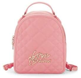 Love Moschino Logo Quilted Backpack