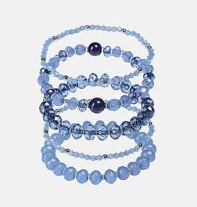 Avenue Blue Facet Bead Bracelet Set