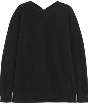 Chinti and Parker Open-back Wool And Cashmere-blend Sweater - Black