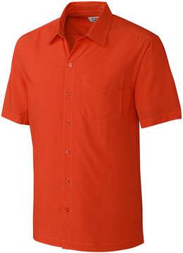 Cutter & Buck Orange Solana Check Button-Up - Men