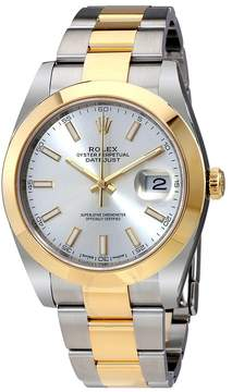 Rolex Datejust 41 Silver Dial Steel and 18K Yellow Gold Oyster Bracelet Men's Watch